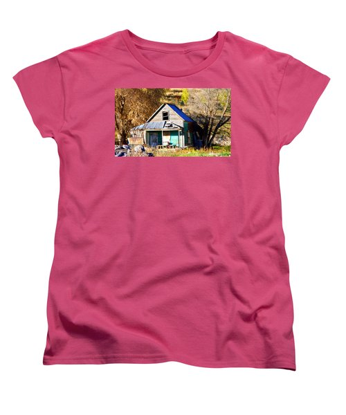 Women's T-Shirt (Standard Cut) featuring the photograph Nobody's Home by Jackie Carpenter