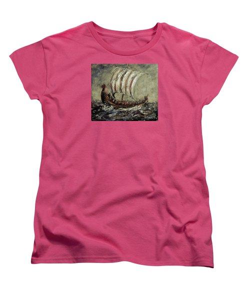 Norse Explorers Women's T-Shirt (Standard Cut) by Arturas Slapsys