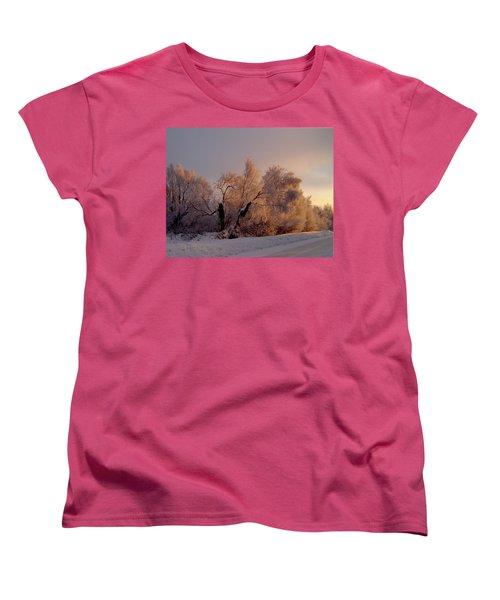 Women's T-Shirt (Standard Cut) featuring the photograph Northern Light by Jeremy Rhoades