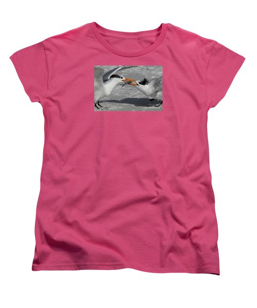 Nothing Says I Love You Like A Fish Women's T-Shirt (Standard Cut) by Meg Rousher