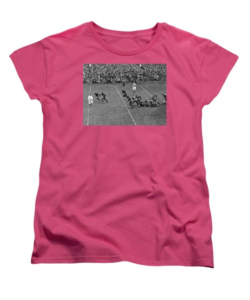 Notre Dame Versus Army Game Women's T-Shirt (Standard Cut) by Underwood Archives