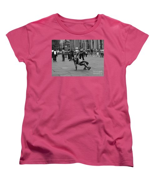 Women's T-Shirt (Standard Cut) featuring the photograph Ny City Street Performer by Angela DeFrias