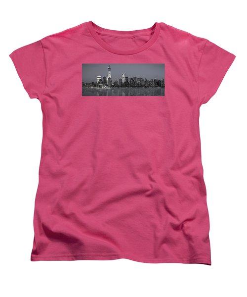 Nyc Skyline Women's T-Shirt (Standard Cut) by Eduard Moldoveanu