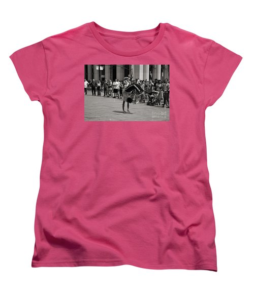 Women's T-Shirt (Standard Cut) featuring the photograph Nycity Street Performer by Angela DeFrias
