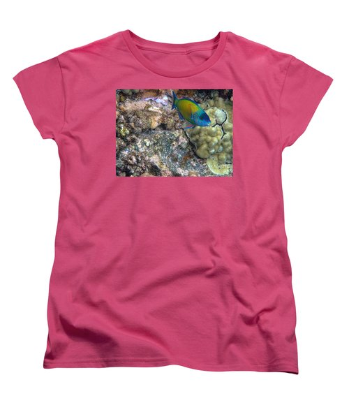 Ocean Color Women's T-Shirt (Standard Cut) by Peggy Hughes
