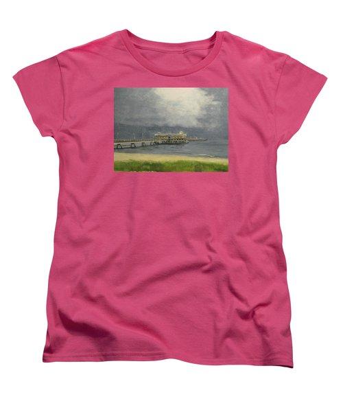 Ocean View Pier Women's T-Shirt (Standard Cut) by Stan Tenney