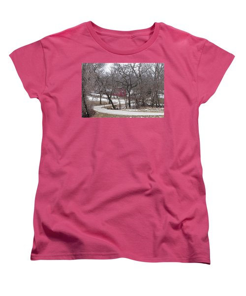 Women's T-Shirt (Standard Cut) featuring the photograph Off The Beaten Path by Liane Wright