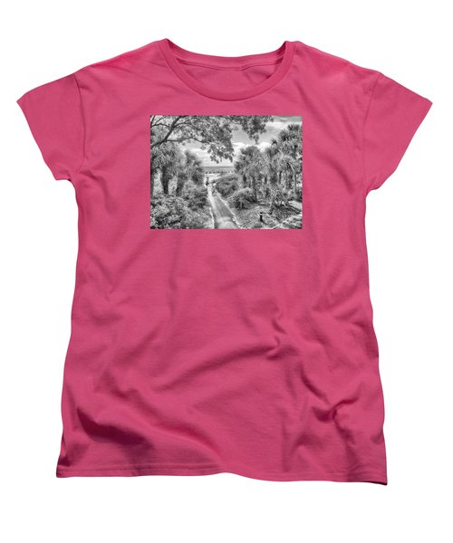 Women's T-Shirt (Standard Cut) featuring the photograph Off To The Beach by Howard Salmon