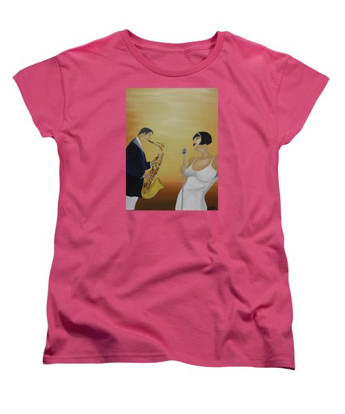Oil Msc 001  Women's T-Shirt (Standard Cut) by Mario Sergio Calzi