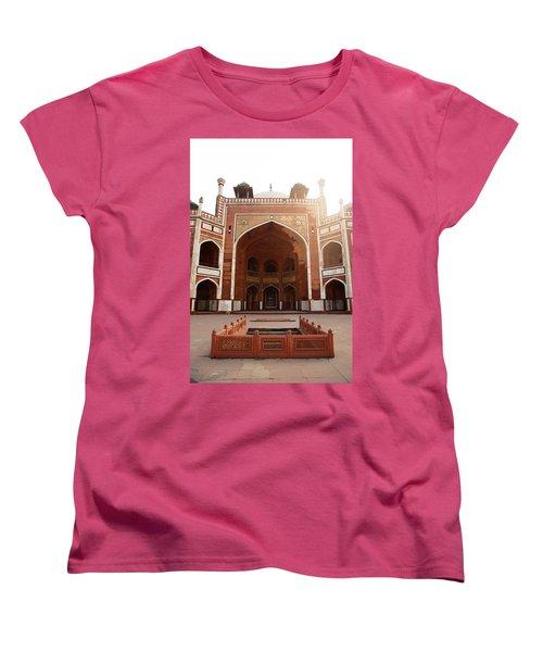 Oil Painting - Cross Section Of Humayun Tomb Women's T-Shirt (Standard Cut) by Ashish Agarwal