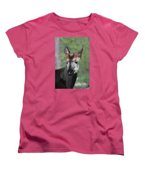 Women's T-Shirt (Standard Cut) featuring the photograph Okapi #2 by Judy Whitton