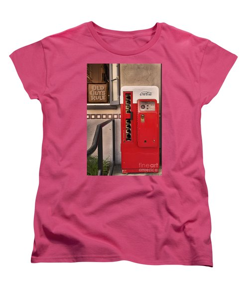 Old Guys Rule Women's T-Shirt (Standard Cut) by Claudia Ellis