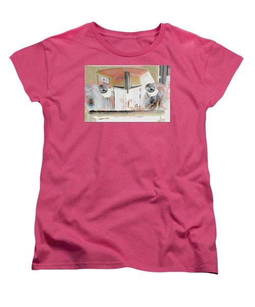 Old Ford Truck - Photopower Women's T-Shirt (Standard Cut) by Pamela Critchlow