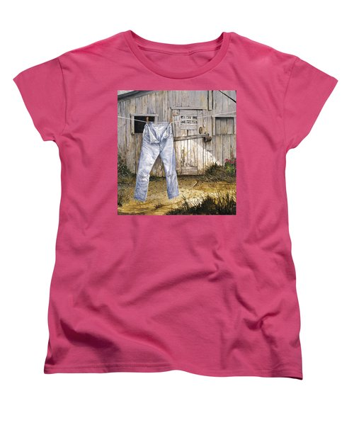 Women's T-Shirt (Standard Cut) featuring the painting Old Friends by Michael Humphries