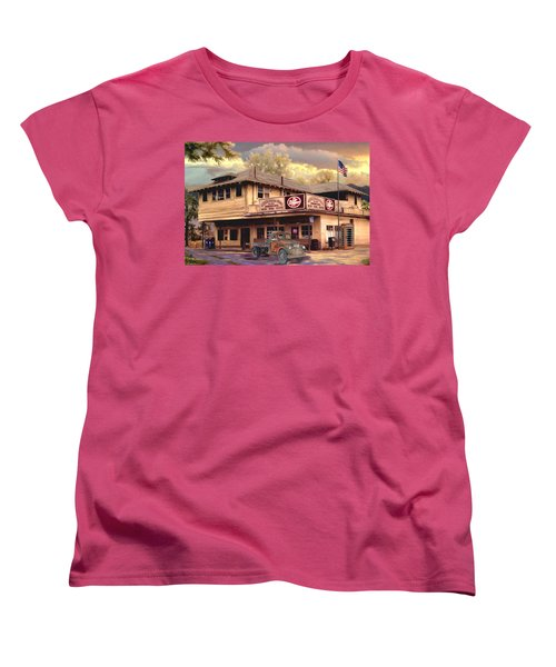 Old Town Irvine Country Store Women's T-Shirt (Standard Cut) by Ron Chambers