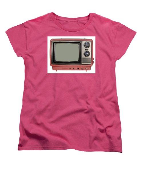 Vintage Tv Set Women's T-Shirt (Standard Cut) by Les Palenik