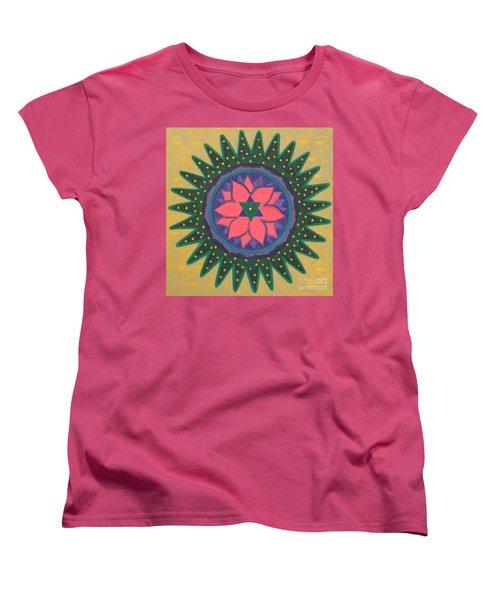 Women's T-Shirt (Standard Cut) featuring the painting One Gold Bindu by Mini Arora