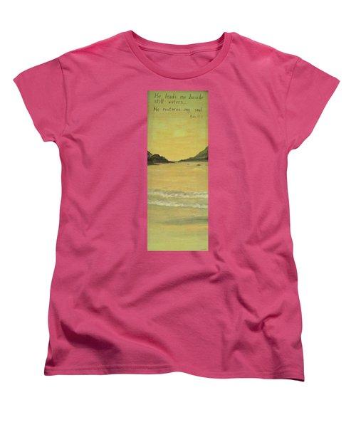 Orange Beach Women's T-Shirt (Standard Cut) by Christy Saunders Church