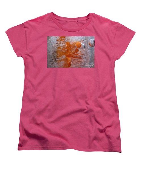 Orange Flower Women's T-Shirt (Standard Cut) by Randi Grace Nilsberg