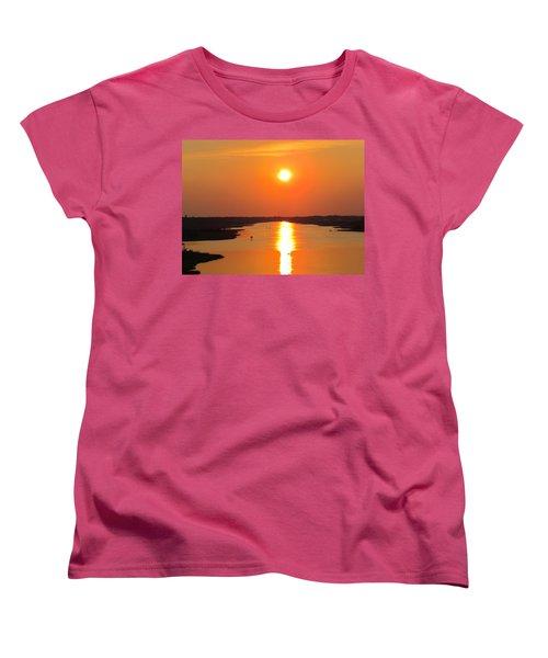 Women's T-Shirt (Standard Cut) featuring the photograph Orange Sunset by Cynthia Guinn