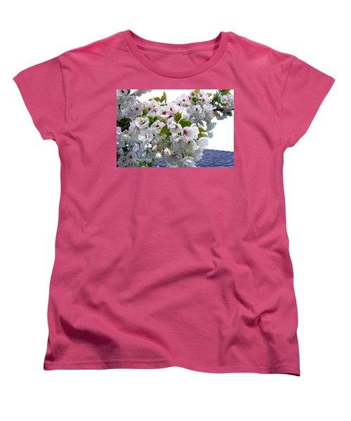 Oregon Cherry Blossoms Women's T-Shirt (Standard Cut) by Will Borden