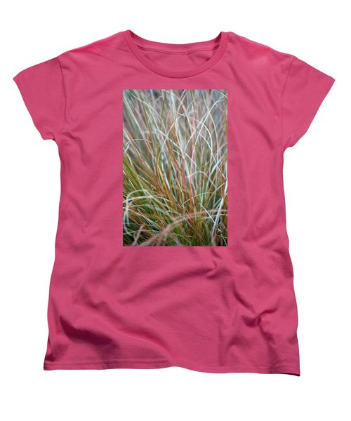 Ornamental Grass Abstract Women's T-Shirt (Standard Cut) by E Faithe Lester