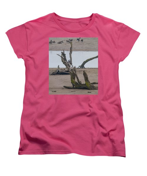 Women's T-Shirt (Standard Cut) featuring the photograph Ospray With Fish by Brian Williamson