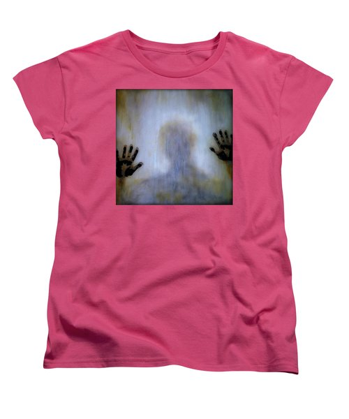 Women's T-Shirt (Standard Cut) featuring the painting Outsider by Lilia D