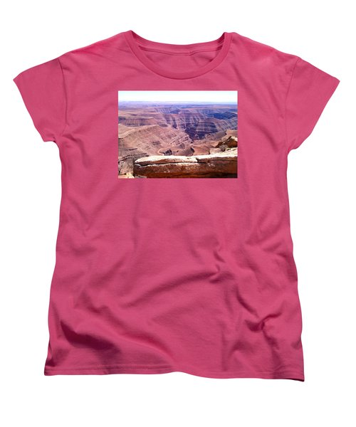 Overlook Into The Layers Of Time Women's T-Shirt (Standard Cut) by Fortunate Findings Shirley Dickerson