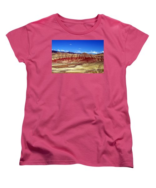 Women's T-Shirt (Standard Cut) featuring the photograph Painted Hills by Chalet Roome-Rigdon