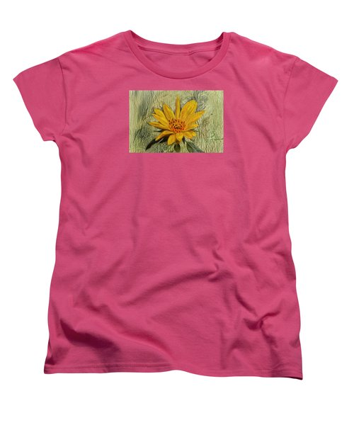 Painterly Sunflower Women's T-Shirt (Standard Cut) by Sandi OReilly