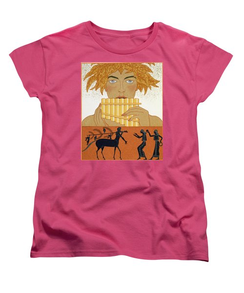 Pan Piper Women's T-Shirt (Standard Cut) by Georges Barbier