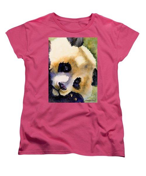 Panda Cub Women's T-Shirt (Standard Cut) by Bonnie Rinier