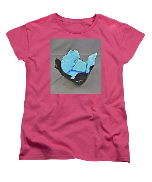 Women's T-Shirt (Standard Cut) featuring the sculpture Paper-thin Bowl  09-001 by Mario Perron