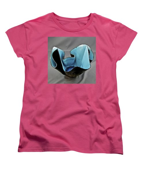 Women's T-Shirt (Standard Cut) featuring the sculpture Paper-thin Bowl  09-003 by Mario Perron