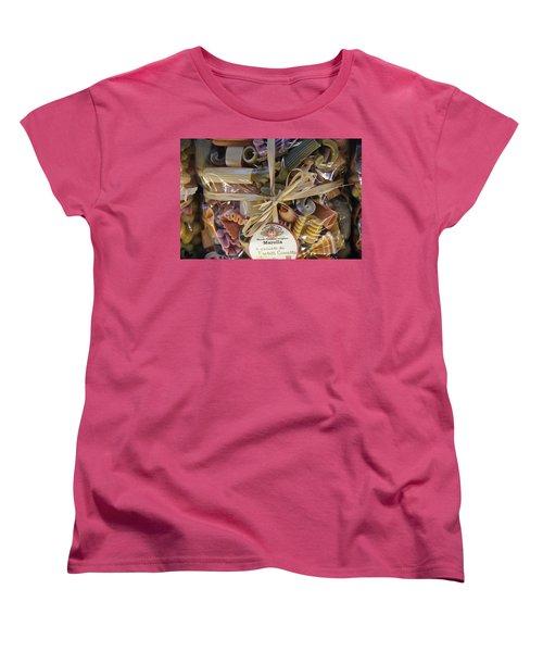 Pasta  Women's T-Shirt (Standard Cut) by Debi Demetrion