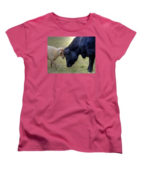 Pasture Pals Women's T-Shirt (Standard Cut) by Charlotte Schafer