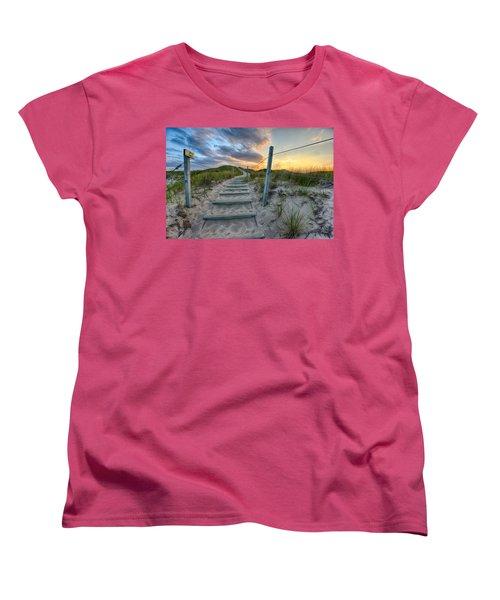 Path Over The Dunes Women's T-Shirt (Standard Cut)