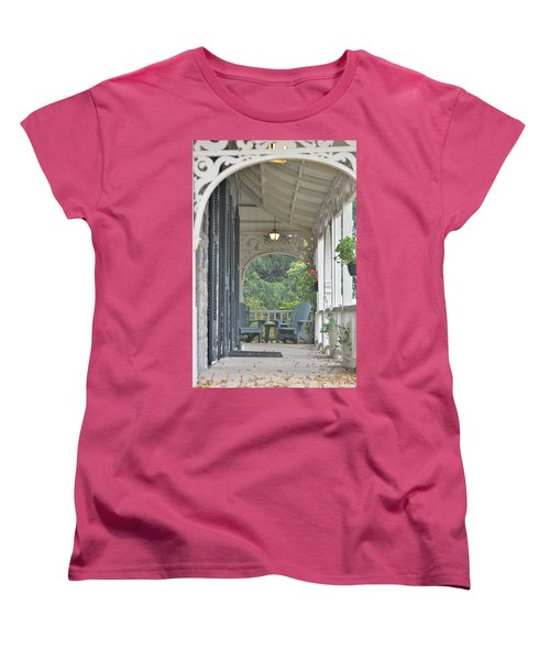 Pause For Reflection Women's T-Shirt (Standard Cut) by David Porteus