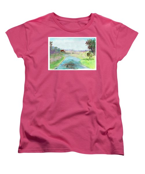 Peaceful Day Women's T-Shirt (Standard Cut) by C Sitton