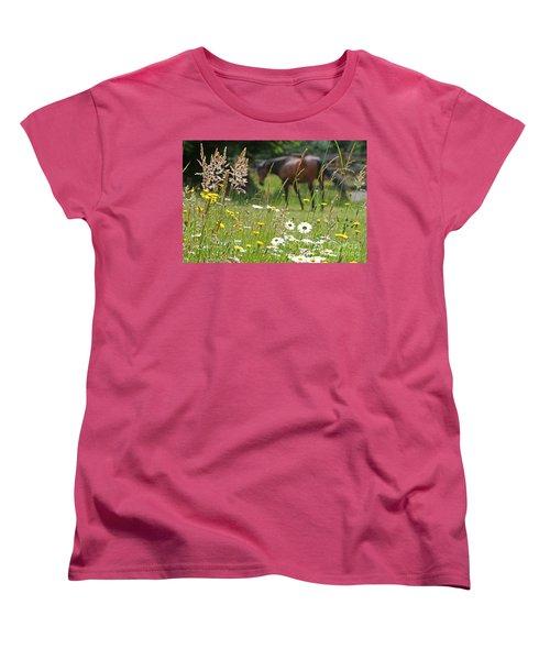 Peaceful Pasture Women's T-Shirt (Standard Cut) by Michelle Twohig