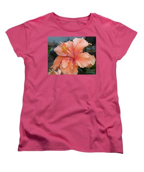 Women's T-Shirt (Standard Cut) featuring the photograph Peach And Cream by Lingfai Leung