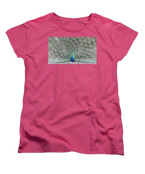 Women's T-Shirt (Standard Cut) featuring the photograph Peacock by John Telfer