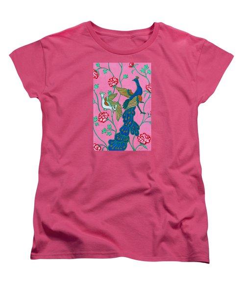Peacocks Flying Southeast Women's T-Shirt (Standard Cut) by Xueling Zou