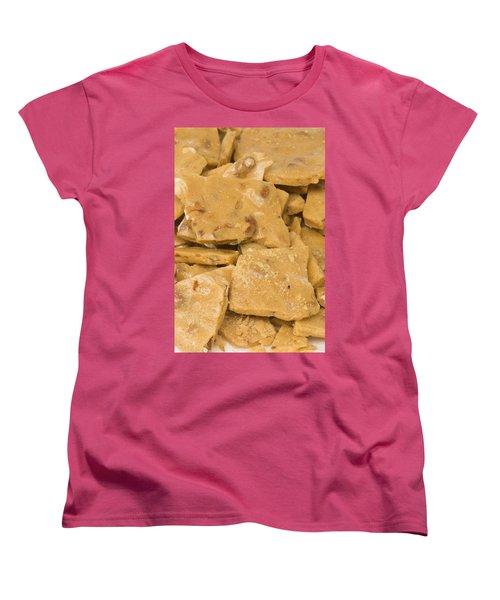 Peanut Brittle Closeup Women's T-Shirt (Standard Cut) by Vizual Studio