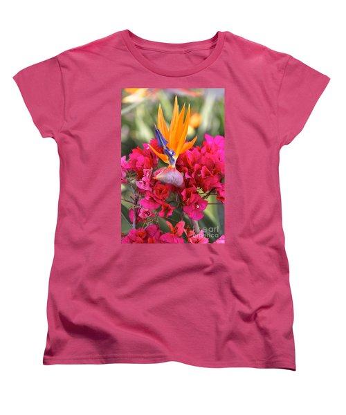 Peeking Through  Women's T-Shirt (Standard Cut) by Suzanne Oesterling