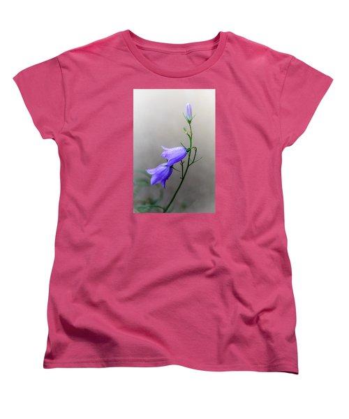 Blue Bells Peeking Through The Mist Women's T-Shirt (Standard Cut)