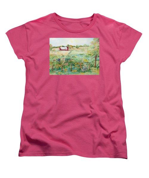 Pennsylvania Pasture Women's T-Shirt (Standard Cut) by Christine Lathrop