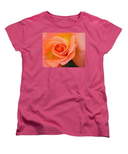 Petals Of Peach Women's T-Shirt (Standard Cut) by Rowana Ray