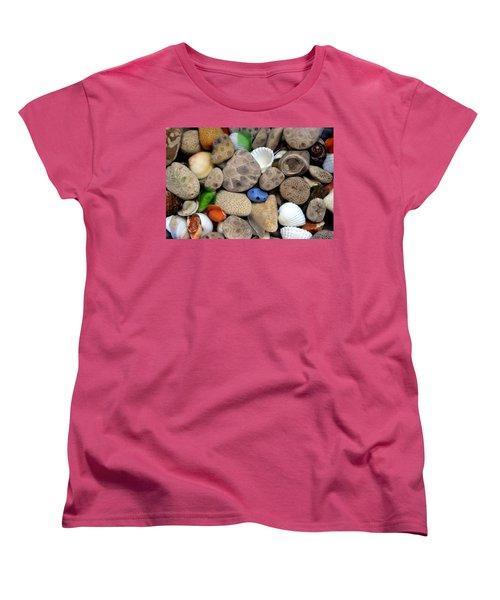 Petoskey Stones Lll Women's T-Shirt (Standard Cut) by Michelle Calkins